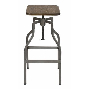 Adjustable Height Swivel Bar Stool by Adeco Trading Read Reviews