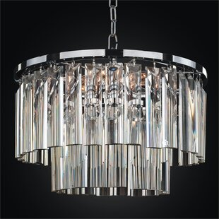 Glow Lighting Wind Chime 5-Light Chandelier