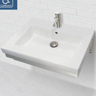 Read Reviews Lilac Classically Redefined Lavatory 24 Wall Mount Bathroom Sink with Overflow By DECOLAV