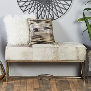 Cole & Grey Leather Bench