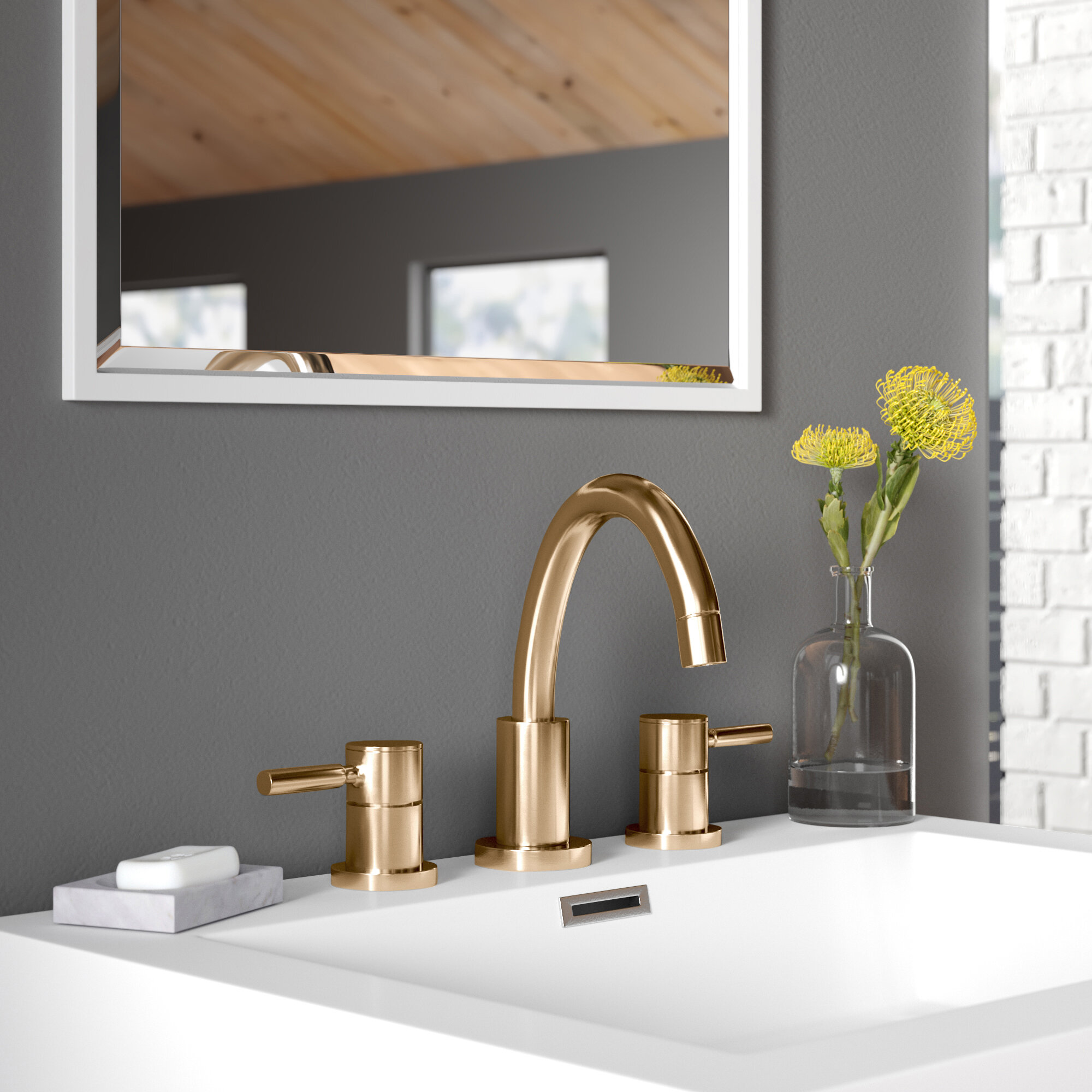Jeanie Widespread Bathroom Faucet With Drain Assembly Reviews Allmodern