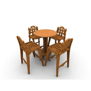 Palladian Line 5 Piece Bar Height Dining Set