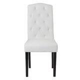 Ingemar Tufted Uphostered Side Chair in White (Set of 2) by Red Barrel Studio®