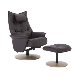 Forehand Manual Swivel Recliner With Footstool By Mercury Row