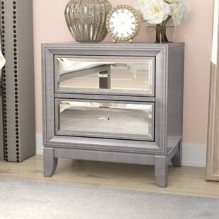 Willa Arlo Interiors Guerrero 2 Drawer Nightstand