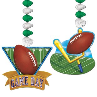 Game Day Football Dangler Paper Disposable Hanging Decor Set