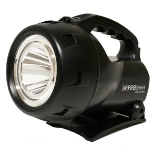 Black Battery Powered LED Flashlight By Freeport Park