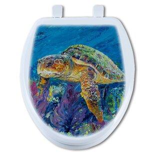 TGC Artisans Seats Loggerhead Turtle Round Toilet Seat