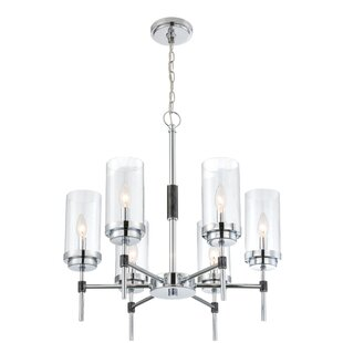 Latitude Run Elvira 6-Light Shaded Chandelier