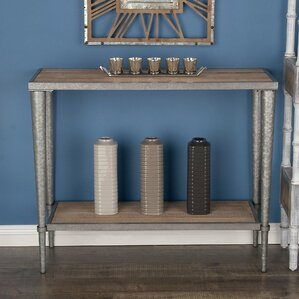 metalwood console table