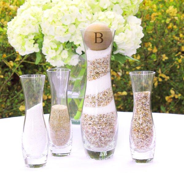 cathys concepts 4 piece personalized rustic vase set wayfair