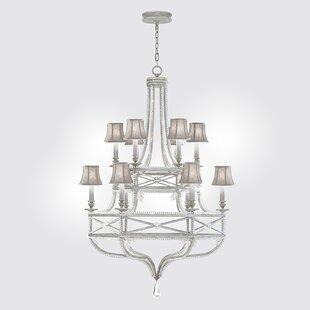 Fine Art Lamps Prussian Neoclassic 12-Light Shaded Chandelier