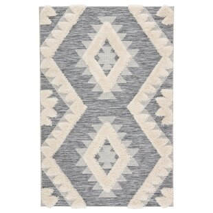Vermehr Geometric Gray/Beige Indoor/Outdoor Area Rug