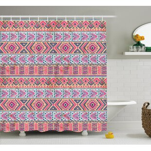 Angie Tribal Retro Style Indian Aztec Spring Native American Pattern Shower Curtain