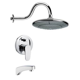 K 16213 4a Bn Kohler Revival Bath And Shower Faucet Set With Traditional Lever Handles And Single Function Shower Head Standard Showerarm And Flange Wayfair