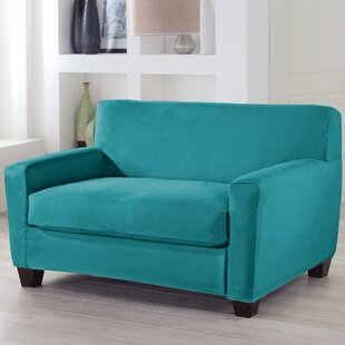 Serta® Stretch Fit Box Cushion Loveseat Slipcover