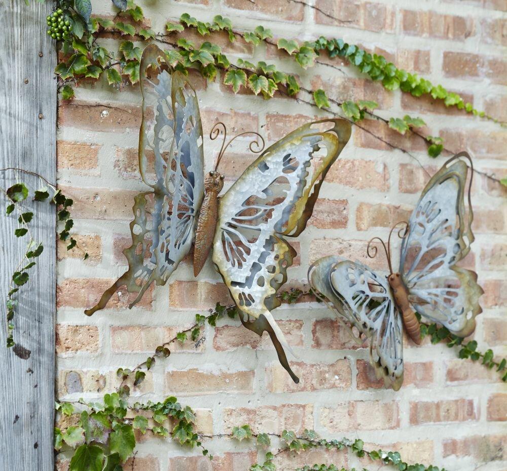 August Grove 2 Piece Butterfly Wall Decor Set   Wayfair