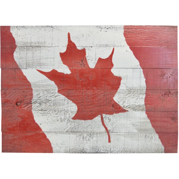 FiresideHome Canada Flag Painting Print on Manufactured Wood