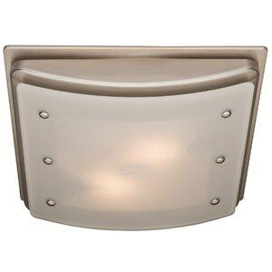 Ellipse 100 CFM Bathroom Fan with Light and Night-light