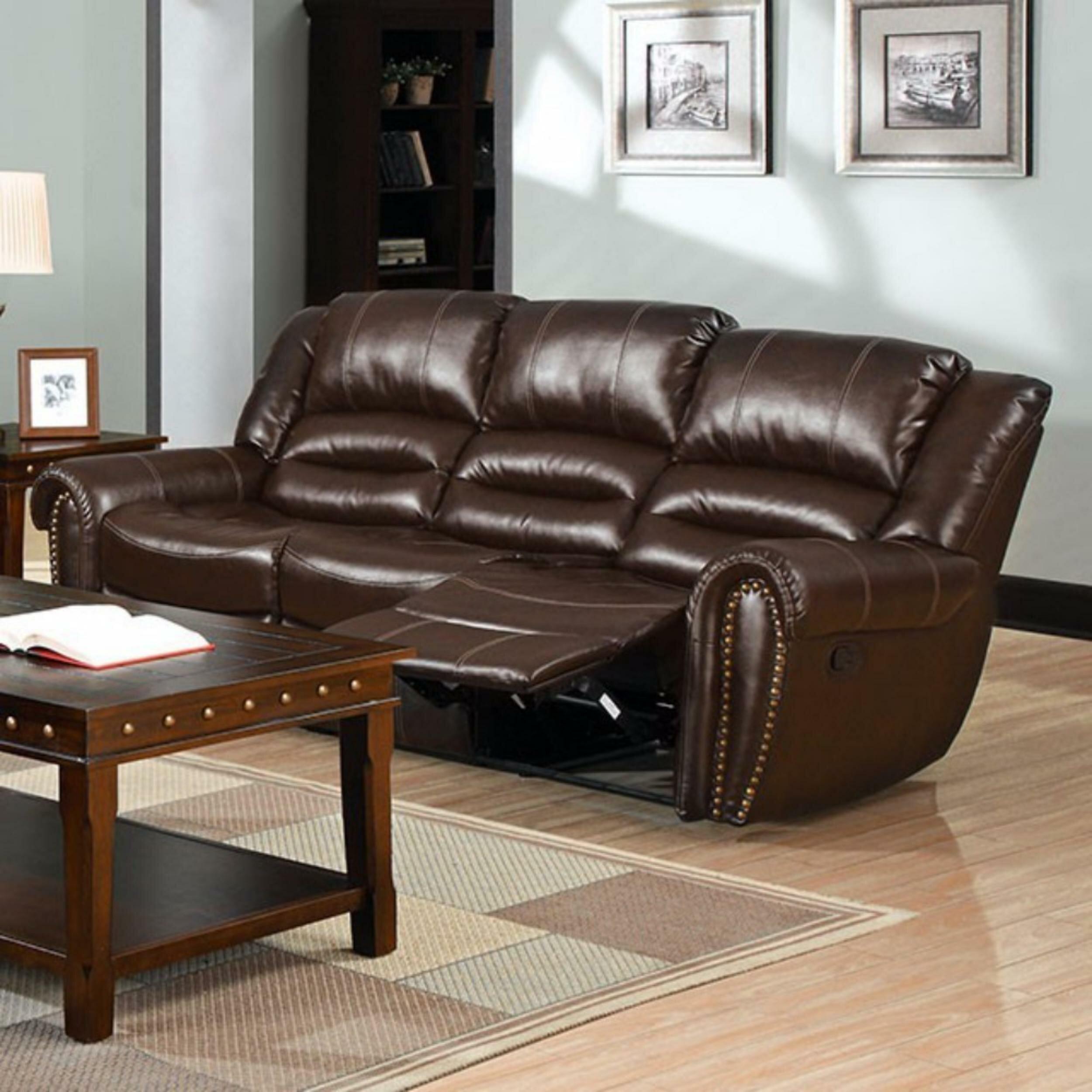 Gangemi Bonded Leather Recliner Sofa