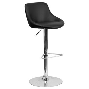 Kandice Adjustable Height Swivel Bar Stool Orren Ellis
