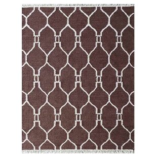 Best Reviews Lapp Handmade Kilim Wool Brown/White Area Rug By Mercer41