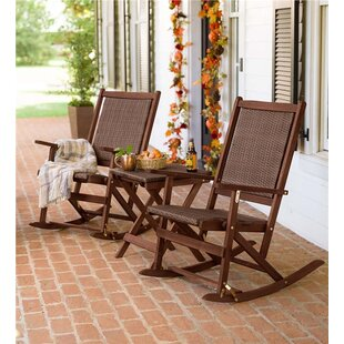 Claytor 3 Piece Rattan Conversation Set