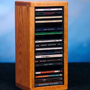 100 Series 20 CD Dowel Multimedia Tabletop Storage Rack