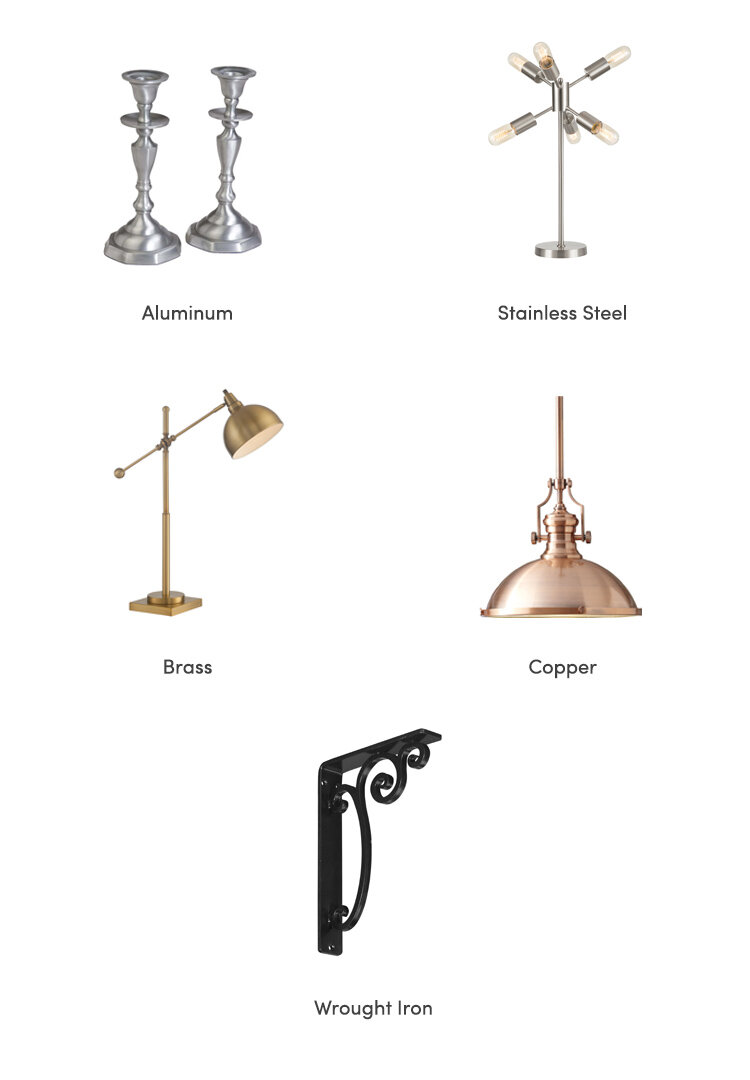 Types of Metal and Finishes Guide | Wayfair
