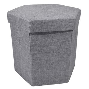 Stasia Collapsible Hexagon Storage Ottoman by Winston Porter