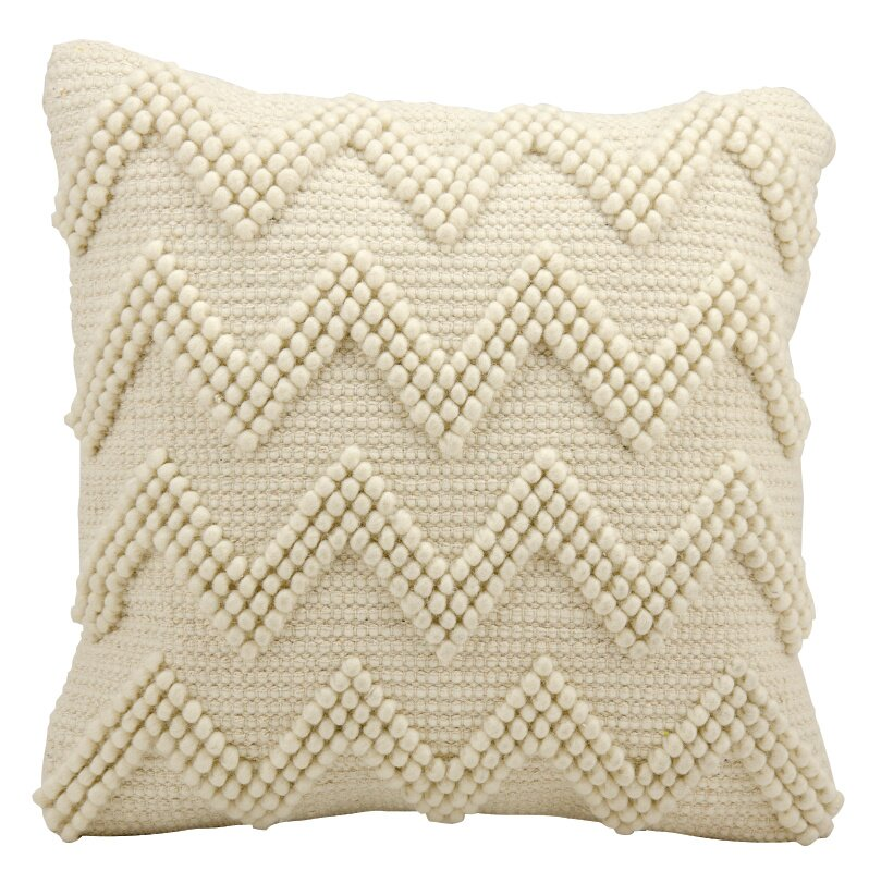 Minnick Throw Pillow - Shop Drew's Honeymoon House {Jonathan's Guest Suite} #chevronpillow #ivorypillow