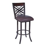 Tahiti 26 Swivel Bar Stool with Cushion by Armen Living