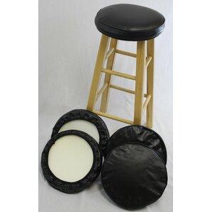 Bar Stool Cushion (Set of 4)  sc 1 st  Wayfair & Slip On Bar Stool Covers Round | Wayfair islam-shia.org