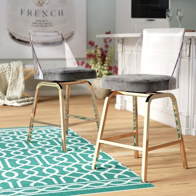 Full Back Swivel Counter Height Bar Stools You Ll Love In
