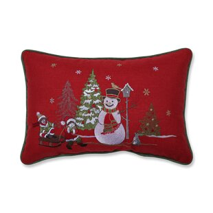Singer Christmas Frosty Scene Lumbar Pillow
