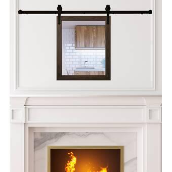 Gracie Oaks Ruffin Decorative Rustic With Shelf Wall Mirror Wayfair