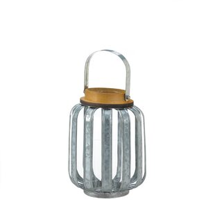 Best Reviews Galvanized Metal Lantern By Gracie Oaks
