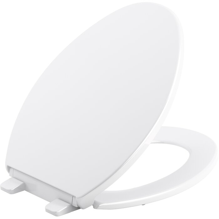 Magnificent Kohler Brevia Quiet Close Elongated Toilet Seat White Short Links Chair Design For Home Short Linksinfo