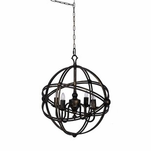 Mcglynn Vintage Glamour Abstract 4-Light Globe Chandelier by Gracie Oaks