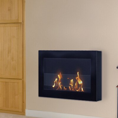 Anywhere Fireplace Soho Wall Mounted Bio-Ethanol Fireplace Finish: Black Painted Finish