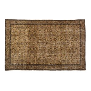 Kay Vintage Hand-Knotted Wool Brown Area Rug