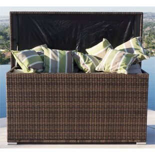 296 Gallon Wicker Deck Box