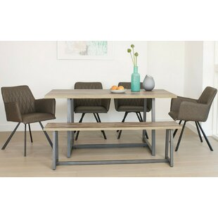 Ingria Dining Set With 4 Chairs And One Bench