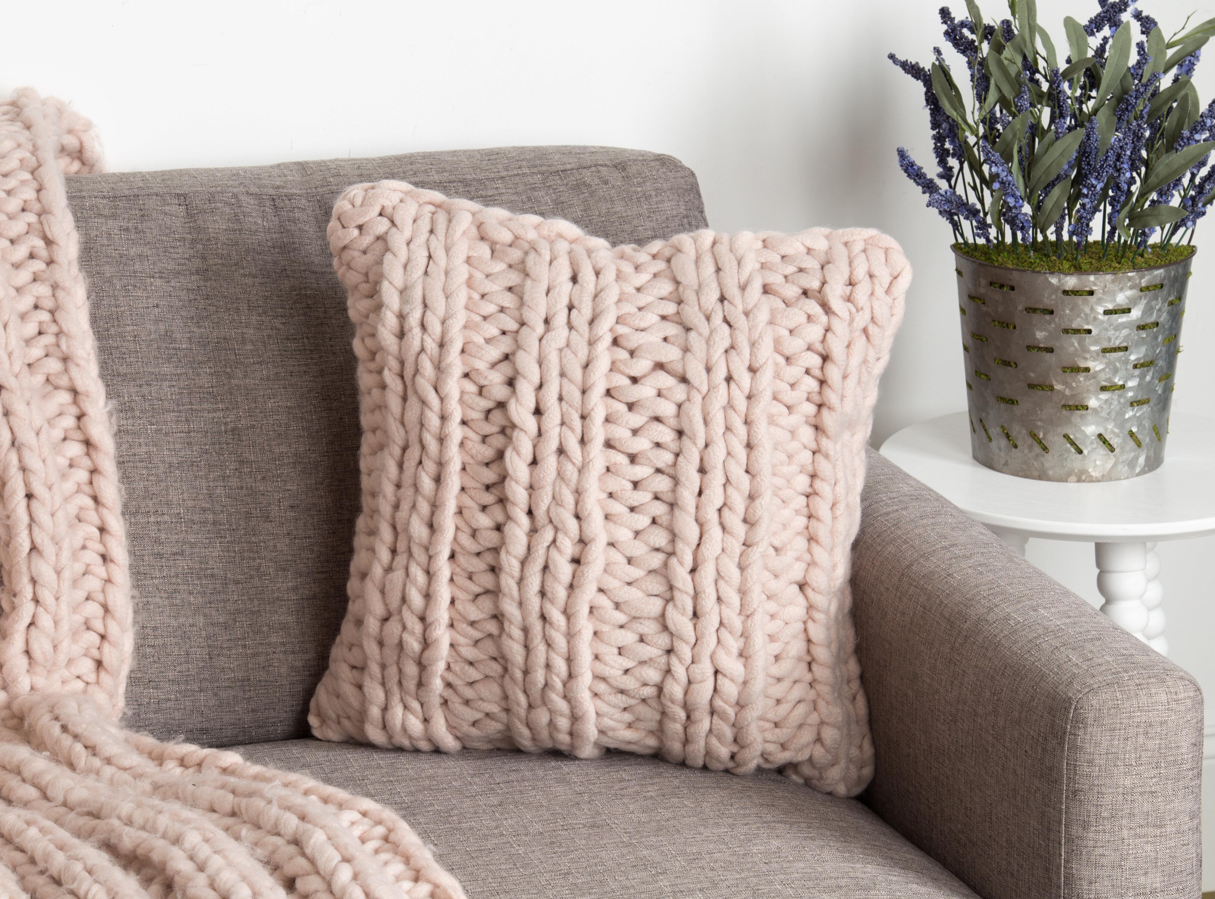 Gracie Oaks Morwenna Knit Pillow Cover Reviews Wayfair