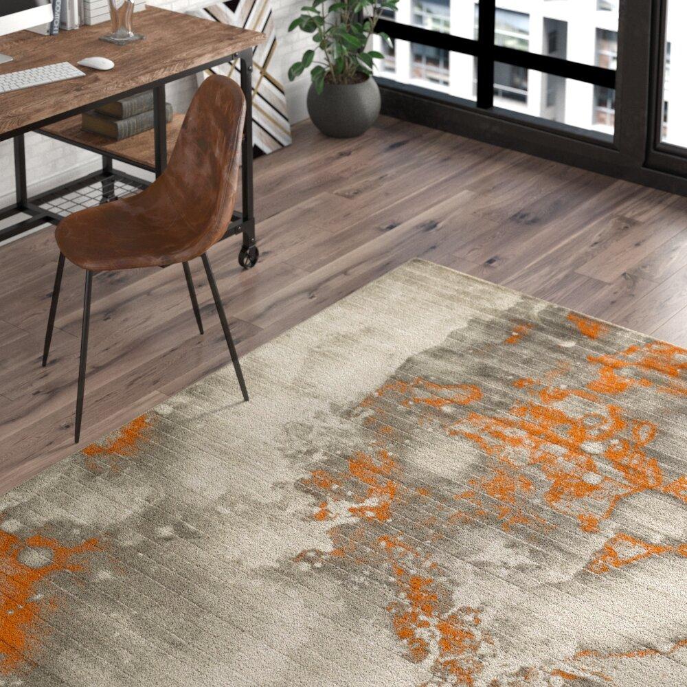 Trent Austin Design Chartwell Abstract Light Gray Burnt Orange Area Rug Reviews Wayfair