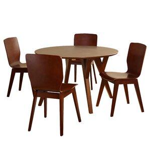 Maude 5 Piece Wood Dining Set