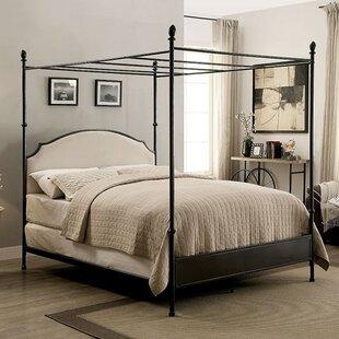 Alcott Hill Zed Upholstered Canopy Bed