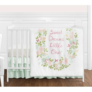Price comparison Butterfly Floral 4 Piece Crib Bedding Set By Sweet Jojo Designs