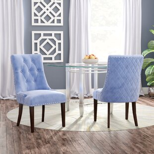 Willa Arlo Interiors Bernyce Velvet Parsons Upholstered Dining Chair (Set of 2)