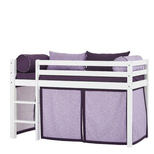 Basic Beautiful Bloom Mid Sleeper Bed With Curtain By Hoppekids